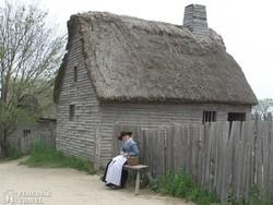 életkép a Plimoth Plantation skanzenben