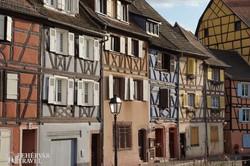 középkori favázas házak Colmarban