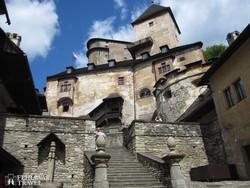 a sziklaszirtre épült Árva vára – részlet