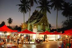 az esti piac egy részlete Luang Prabangban