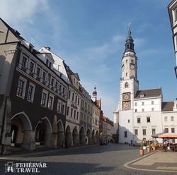 Görlitz egyik szép tere, az Untermarkt