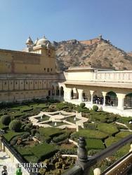 a Jaigarh-erőd látképe az Amber-erődpalotából