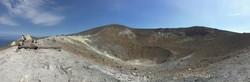 Lipari-szigetek – pihenő Volcano kráterénél