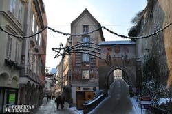 adventi hangulat Steyr történelmi óvárosában