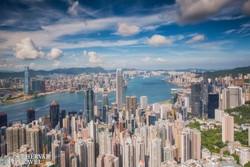 Hongkong lélegzetelállító panorámája a Viktória-csúcsról