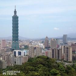 """a bambusznád alakú """"Taipei 101"""" felhőkarcoló"""
