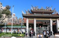 a művészi Longshan-templom Tajpejben