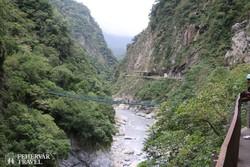 a Liwu folyó által vájt szurdok a Taroko Nemzeti Parkban