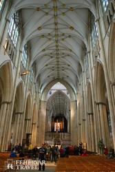 a yorki katedrális gyönyörű gótikus belsője