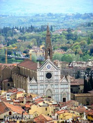 Firenze – a Santa Croce-templom madártávlatból