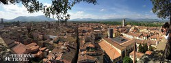 Lucca óvárosa madártávlatból
