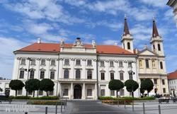 a püspöki palota és a székesegyház Szombathelyen