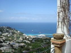 Capri – kilátás Axel Munthe villájából