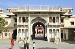 Jaipur: a maharadzsa palotájának bejárata