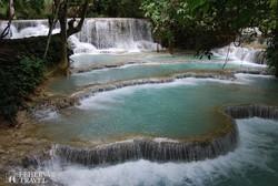 természetes úszómedencék a Kuangsi vízeséseknél