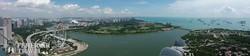 Szingapúr: panoráma a Marina Bay-re