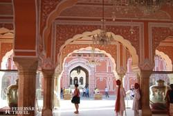 a maharadzsa palotájának egyik belső tere Jaipurban