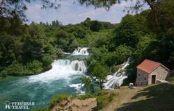 vízesés a Krka Nemzeti Parkban