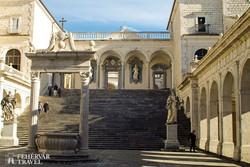 a bencés apátság Montecassinóban – részlet