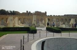 Jantar Mantar – az ősi jaipuri csillagvizsgáló egy részlete