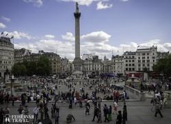 a Trafalgar tér Nelson admirális szobrával