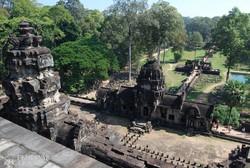 Angkor Thom (a Nagy Város) egy részlete