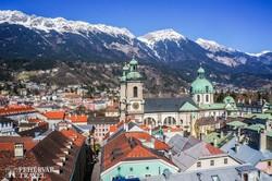 Innsbruck látképe télen