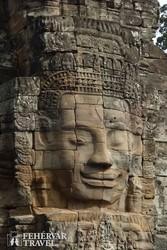 Angkor Thom – mosolygó arc a Bayon szentélyben