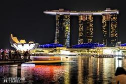 Szingapúr: a Marina Bay esti pompában