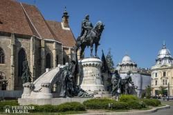 Mátyás király szobra Kolozsváron