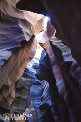 az Antilop-kanyon egy részlete