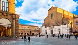 Bologna főtere – részlet