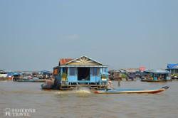 úszó falu a Tonle Sap-tavon