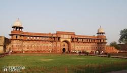az Agrai erőd egyik belső udvara