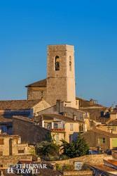 a hegyre épült Saint-Paul-de-Vence egy hangulatos részlete