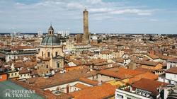 Bologna óvárosa madártávlatból