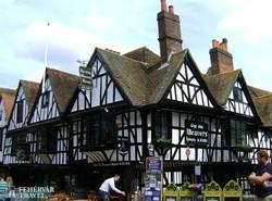 késő középkori épület Canterburyben