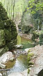 a Gaja patak szurdoka a Római fürdőnél