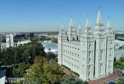 a mormon Templom épülete Salt Lake City-ben