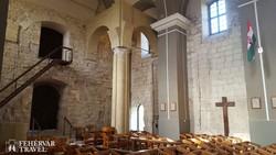 középkori falrészletek a feldebrői templomban