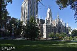 a Templom tér egy részlete: a Gyűlésterem