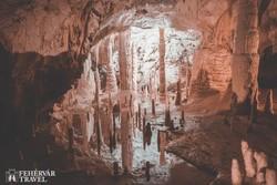 a Frasassi-cseppkőbarlang egy részlete
