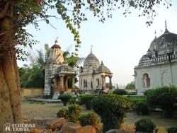 egy templom Khajuraho rejtekében