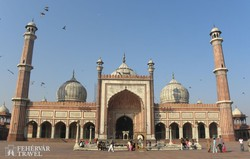 a Jama Masjid (India legnagyobb mecsete) Delhiben