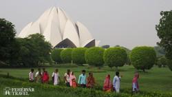 Delhi: a lótuszvirág alakú Bahai-templom