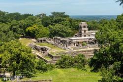 a trópusi környezetben megbúvó Palenque