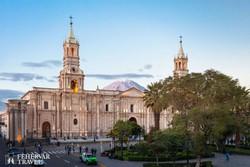 Arequipa főtere a katedrálissal