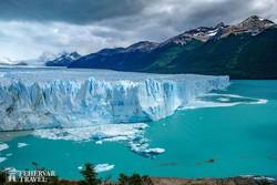 a Perito Moreno-gleccser – a jégtömb magassága 60 méter