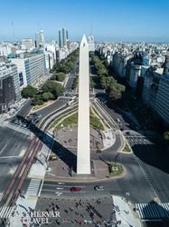 Buenos Aires: a Július 19-e sugárút az Obeliszkkel