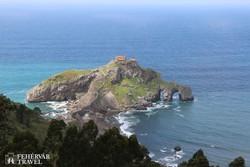 a Szent János-kápolna Gaztelugatxe szigetén